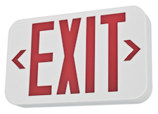 Image of lighted red LED exit sign