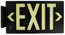 Image of UL 924 listed photoluminescent exit sign