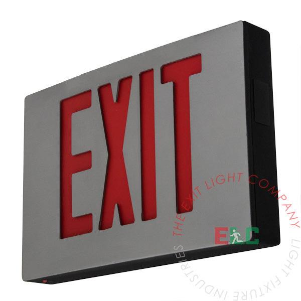 Cast Aluminum Red LED Exit Sign