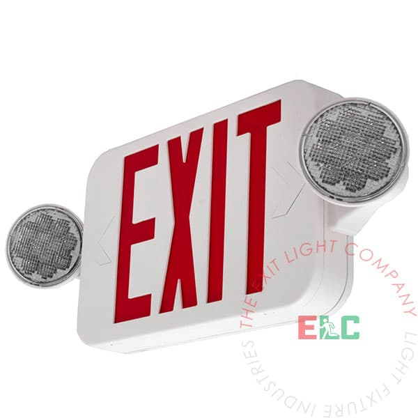 exit lights - exit sign / emergency light combos | elccombojr2-r | exit  light co