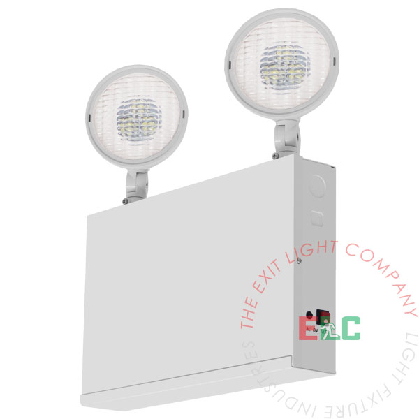 NEW LED EMERGENCY LIGHTING FIXTURE WHITE HOUSING REMOTE CAPABLE