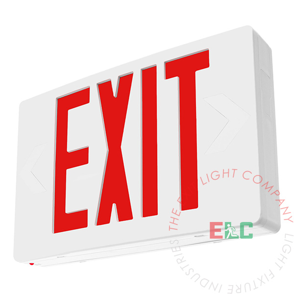 Led exit signs with battery backup
