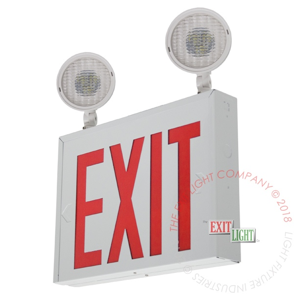Combo white red led exit light co - Exterior light with battery backup ...