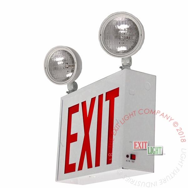 red led exit sign emergency light nyc steel combo ul ebay. Black Bedroom Furniture Sets. Home Design Ideas