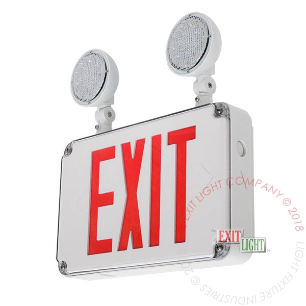Exit Sign Emergency Light Wet Location Exit Light Co