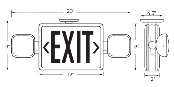exit lights   emergency light combos